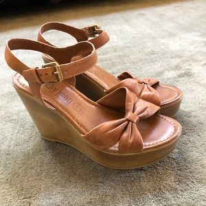 Cathy Jean Brown Wedge Heels